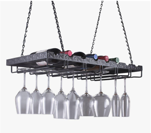 image is loading hanging wine glass rack ceiling suspended stemware holder - Hanging Wine Glass Rack