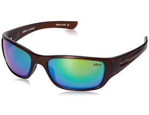 150e558bdd NEW Revo Heading 4058 02 GN Matte Brown   Green Water Sunglasses ...
