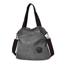 Women Travel Shopping Bag Canvas Large Capacity Shoulder Bag Tote Handbag