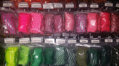 Paracord Survival Rope Bracelet Kit with 230 Feet 550 lb Para Cord /& 25 Buckles
