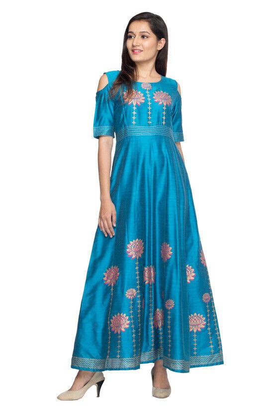 Ladies Full Length Anarkali Gown Dress