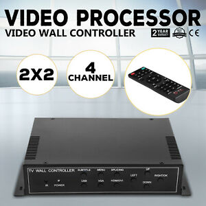 Details about 4 Channel TV Video Wall Controller 2x2 1x3 1x2 HDMI DVI VGA  USB Video Processor