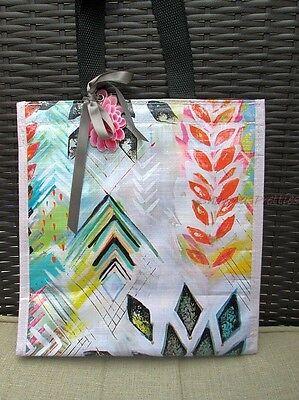 Women's Stylish Geo Star Colorful Graphic Insulated Lunch Bag Box Papaya Art