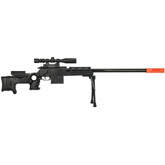 Uk Arms P2777 Spring Sniper Rifle Airsoft Gun W Mock Scope Black 32261 For Sale Online Ebay