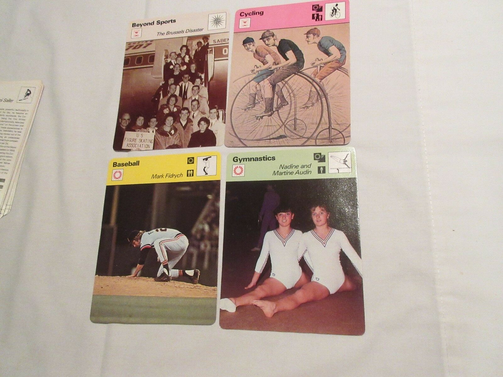 Sportscaster Cards ,1978 ,Deck # 18 ,Cards # 1-24 , Lee