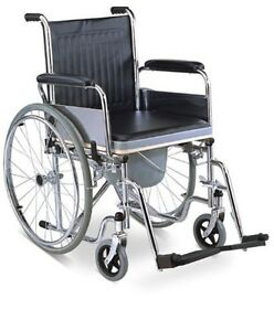 3 In 1 Commode Wheelchair Bedside Toilet Shower Chair Commode Shower