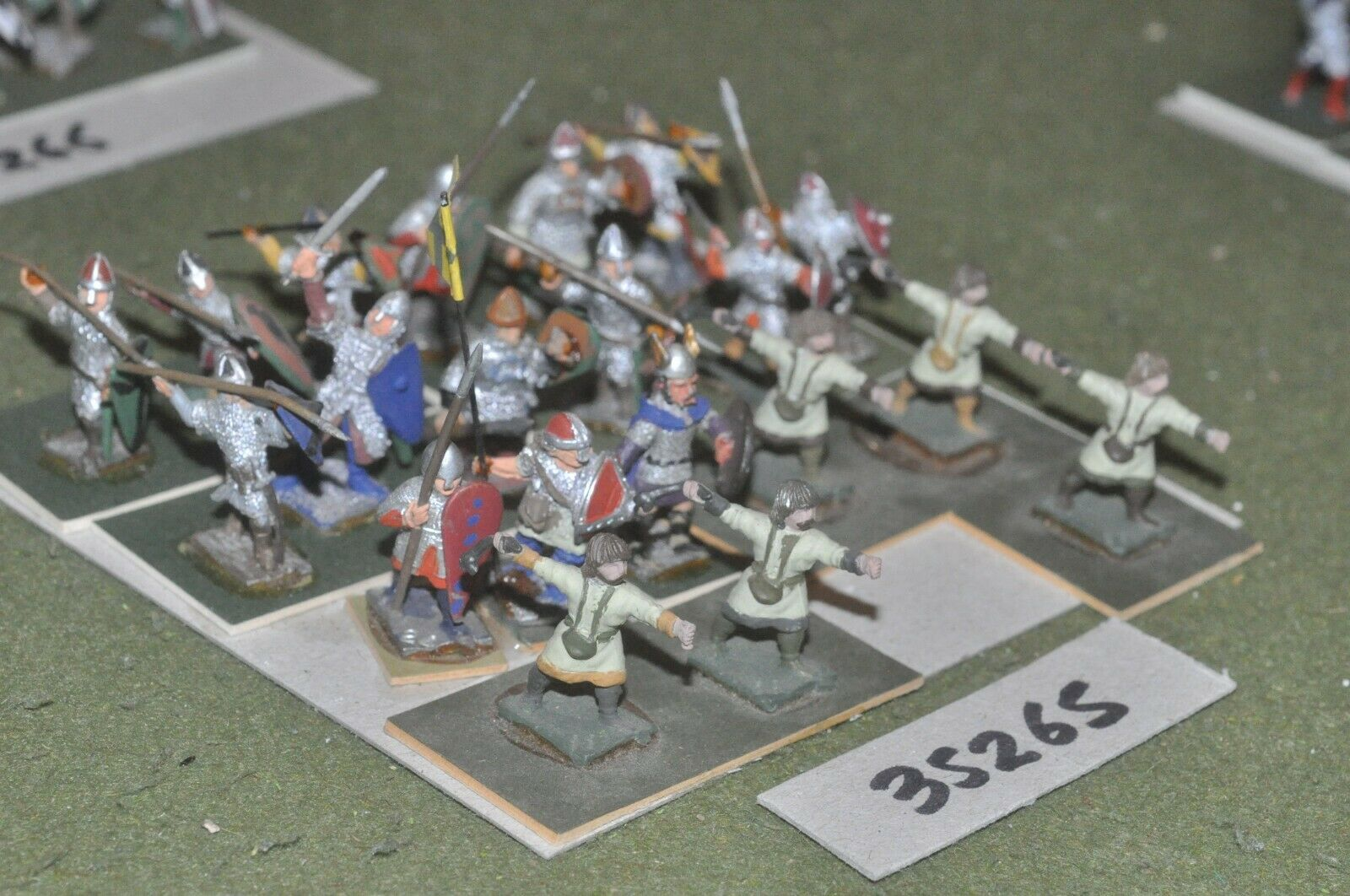 25mm dark ages   anglo-danish - light 20 figures - inf (35265)