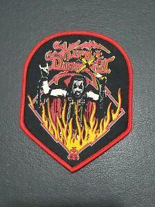 KING-DIAMOND-Music-Band-034-Flames-034-Patch-Jacket-T-Shirt-Iron-on-Clothing-Badge
