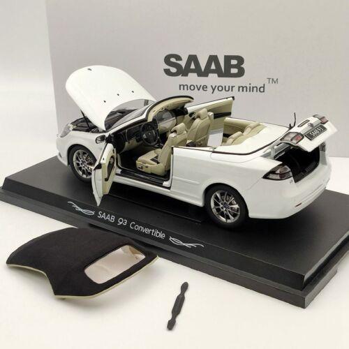 Original 1:18 SAAB 93 9-3 Convertible Sport Car Diecast Models White