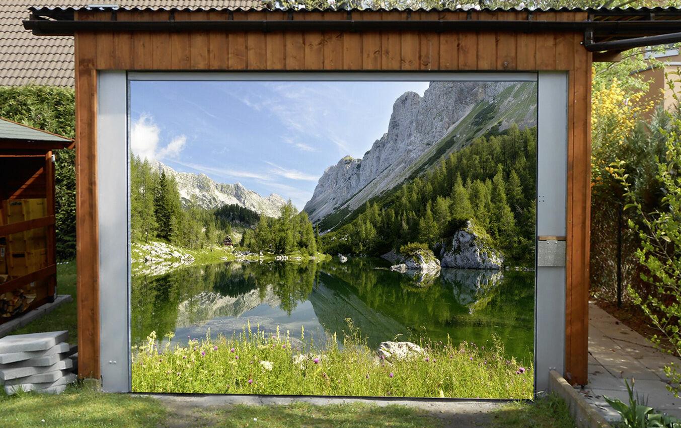 3D Tree Lakes 972 Garage Door Murals Wall Print Decal Wall AJ WALLPAPER AU Carly