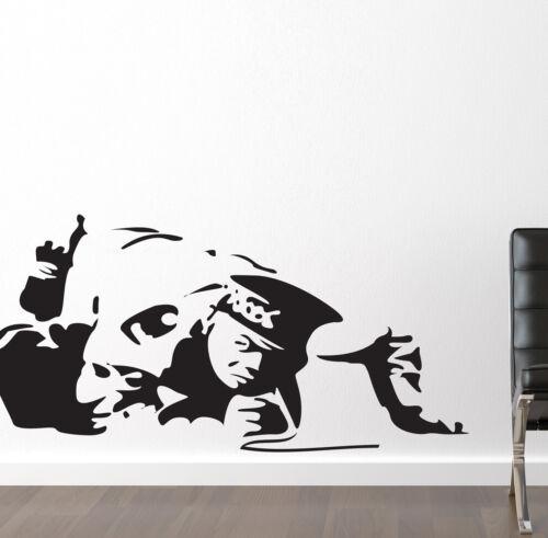 Banksy Style cocaïne COP autocollant mural en cuivre stickers vinyle