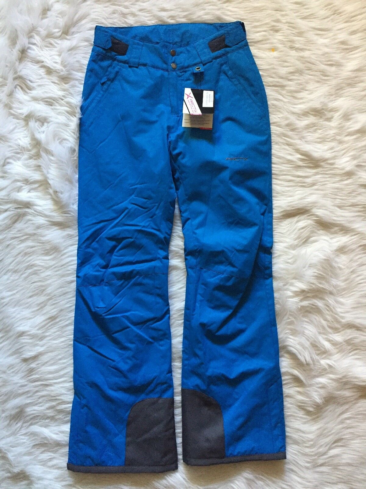 Arctix Womans Sz S Snow Pants with Reinforced Knees Seat bluee with bluee Lining