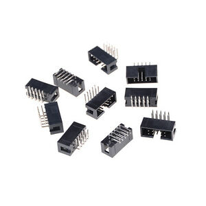 10-UNIDS-DC3-10P-2-54mm-2x5-Pin-Angulo-recto-Cubierto-Hembra-IDC-Socket