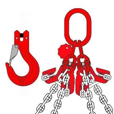 4-strang Kettengehänge Anschlagkette Mit Verkürzungshaken 2,36 Gurte, Bänder, Ketten & Züge 1-6 Meter