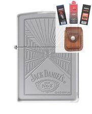 Zippo 5413 Jack Daniels Old #7 Lighter + FUEL FLINT WICK POUCH GIFT SET