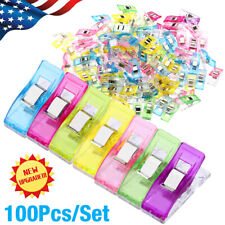 Colorful Plastic Wander Clips for Sewing Quilting Crafting Knitting 50 PCS Multipurpose Sewing Clips for Fabric Wth a Square Box