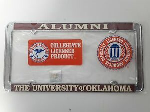 Officially-Licensed-Oklahoma-Sooners-Alumni-Thin-License-Plate-Frame-Chrome