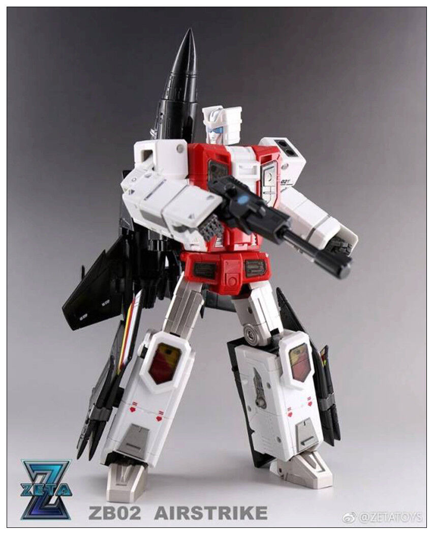Nuevos juguetes de Transformers en existencias Zeta ZB-02 Airstrike G1 Superion Air Ride