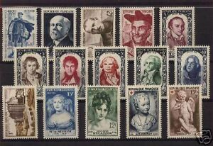FRANCE-STAMP-ANNEE-COMPLETE-1950-15-TIMBRES-NEUFS-xx-TTB