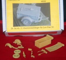 MGM 48301 1/48 Resin WWII German Munitions Trailer (SdAh 51) for 2cm Flak 38