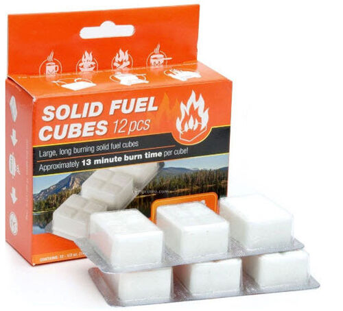 Esbit Camping Solid Fuel Cube Tablets Camping Esbit Stove Fire Starter 12pc x 14g be1835