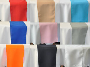 Image Is Loading Polyester Table Runners A Good Alternative From Organza
