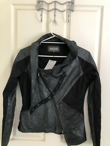Preach Leather Cool Jacket Label Rrp L 795 Bnwt M Sz Metallic OawBxdPwq