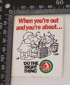 VINTAGE-LITTERING-DO-THE-RIGHT-THING-AUSTRALIA-ADVERTISING-PROMO-STICKER-DECAL