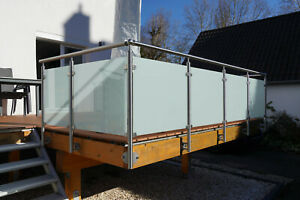 Balkongeländer Edelstahl VSG Glas Balkon Geländer   eBay