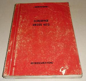 Manual-de-Instrucciones-Handbuch-Ursus-4512-Remolcador-Stand-1987