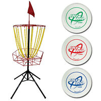 Escalade Sports 35-7120 Steel Triumph Outside Backyard Golf Toss With 3 Discs on sale