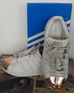 Adidas Superstar Metal Toe W 38 38,5 Weiß Kupfer Gold