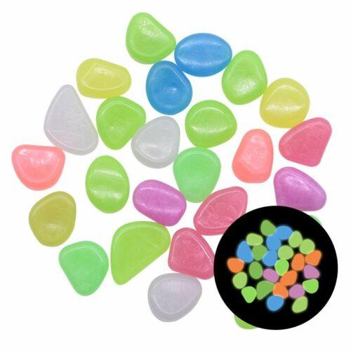 25//50pcs Glow in the Dark Garden Pebbles Glow Stones Rocks for Walkways Garden