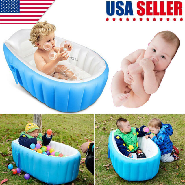 Baby Infant Inflatable Bath Tub SEAT Mommy Helper Kid/toddler ...