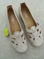 Hotter Soft Beige Slip On Leather Nirvanna Flat Shoes Size 5.5