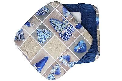 6 cuscini sedie cucina coprisedia cuore allungato elastici for Sedie blu cucina