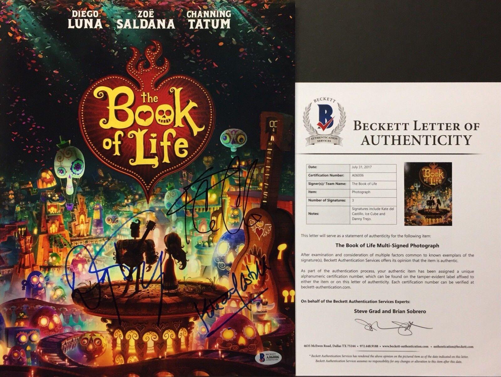 Kate Del Castillo Ice Cube & Danny Trejo 11x14 Book Of Life Photo Beckett A06006
