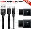 miniature 25 - 3/6/10FT Braided USB C Type-C Fast Charging Data SYNC Charger Cable Cord