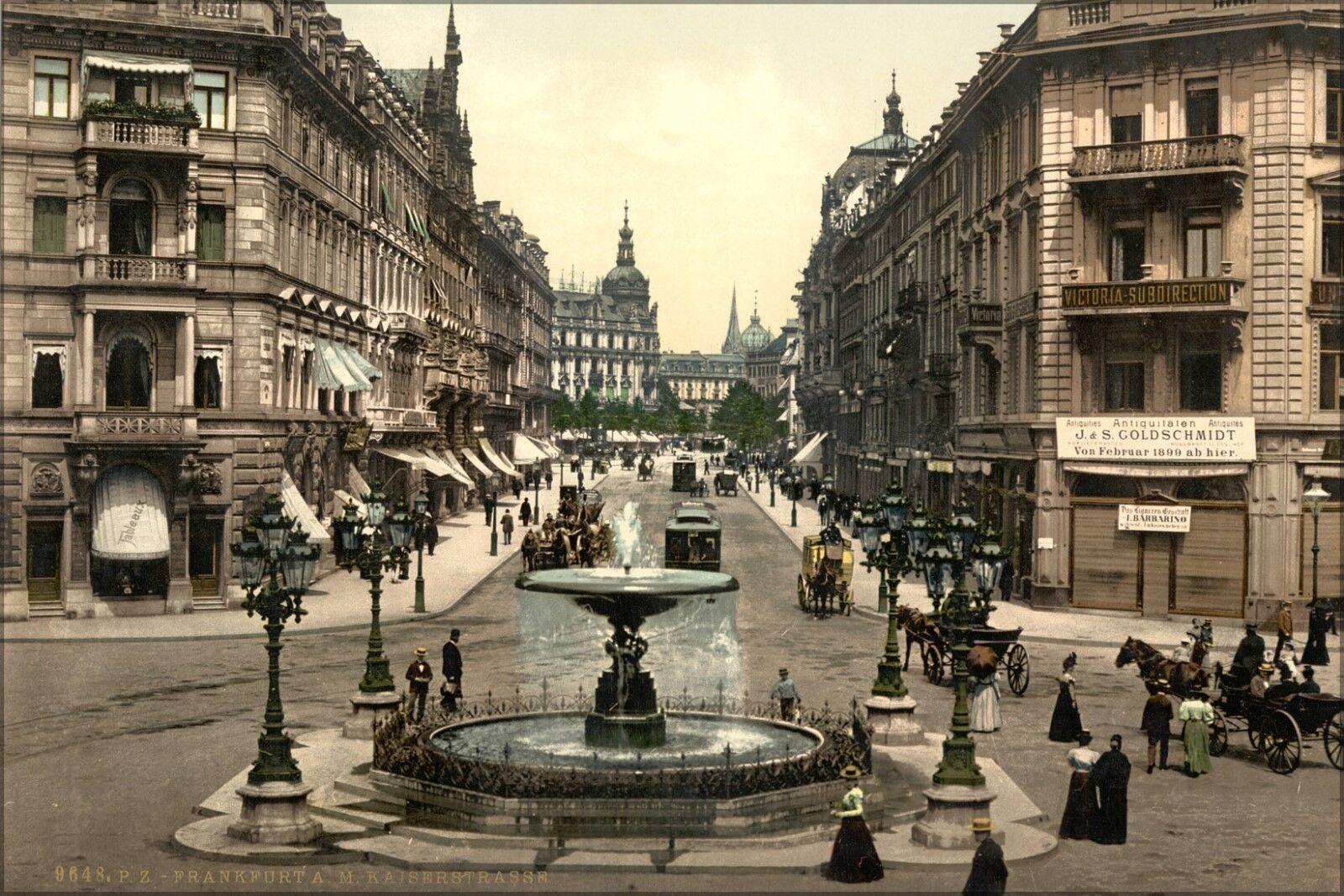 Poster, Many Größes; Kaiserstrasse, Frankfort On Main, Germany 1890 Photochrom