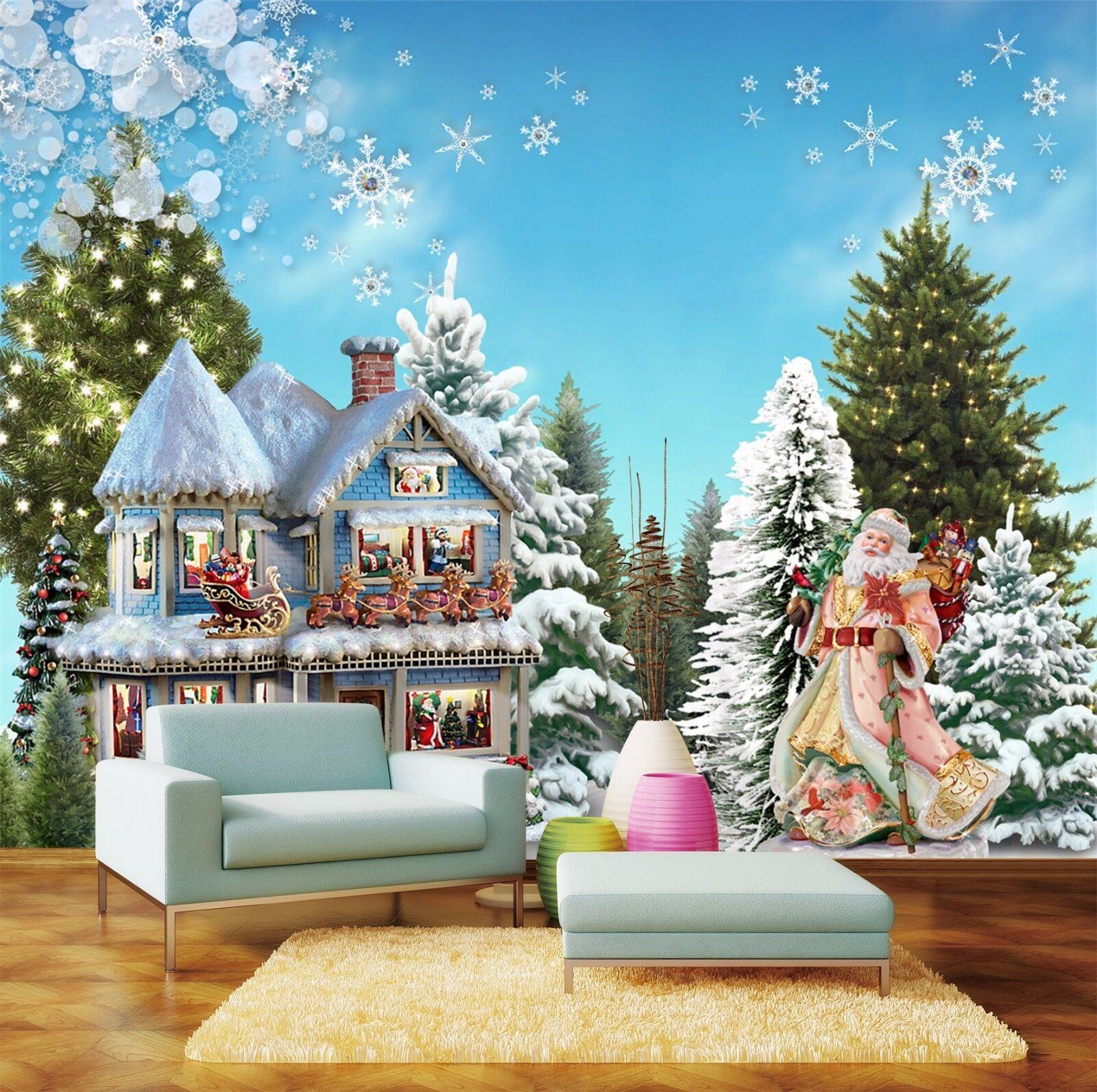 3D Schloss Kiefern 89 Tapete Wandgemälde Tapete Tapeten Bild Familie DE | Modisch  | New Product 2019  | Sehen Sie die Welt aus der Perspektive des Kindes