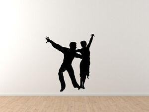 Dancing Couple Version 5 Shadow Car Tablet Vinyl Decal Contour Silhouette