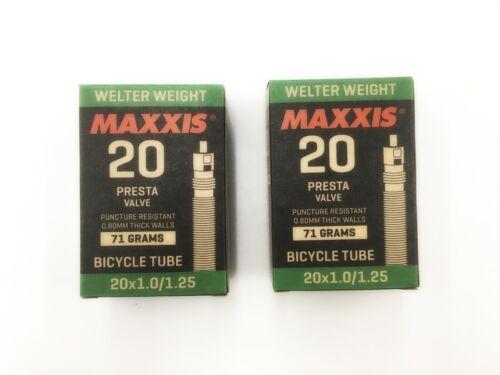 x2 Maxxis Welter Weight 20x1.0//1.25 MTB Mountain Bike FV Presta Valve Inner Tube
