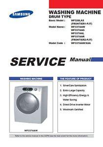samsung wf337aaw wf337aag wf337aal wf337aar washer service manual rh ebay com samsung washer repair guide samsung washer repair guide