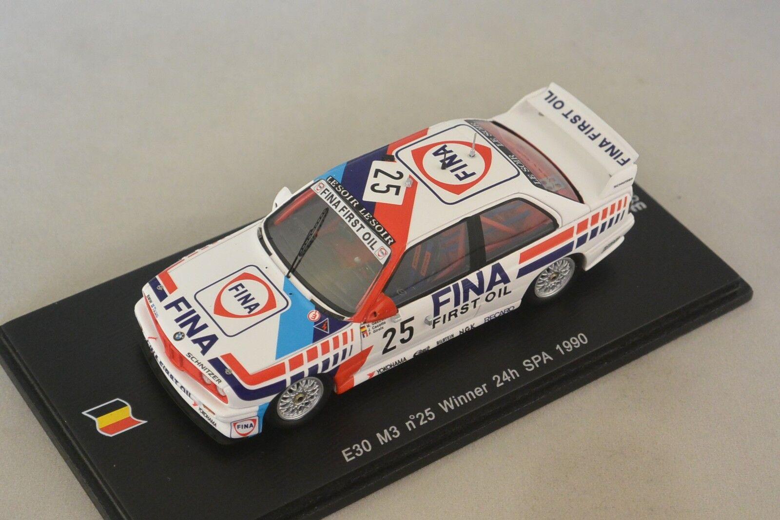 Spark SB068 - BMW E30 M3 n 25 1er 24h SPA 1990 J. Cecotto - F. Giroix - M. 1/43