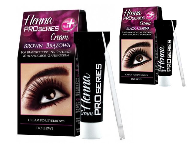 VERONA PRO SERIES HENNA CREAM FOR EYEBROWS BLACK BROWN