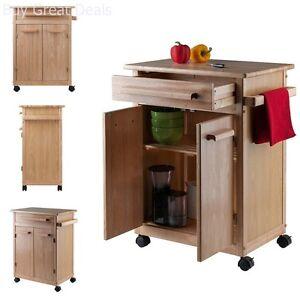 Butcher Block Kitchen Cart | Details About Kitchen Island Rolling Cart Portable Utility Storage Cabinet Wood Butcher Block