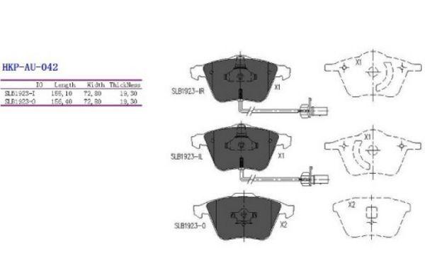 Pastillas de Freno Delantero Audi A4,A6,A6 Allroad 05 A8 1.8-6.0 02.97- Nuevo