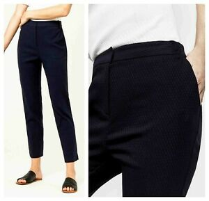 29e1dd61 Details about ex Warehouse Slim Leg Textured Black Office Smart Trousers