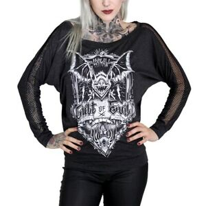 Evil shirt Cult Gothic Top Punk Hyraw T Horror Fledermaus Of Yn1q6wx8