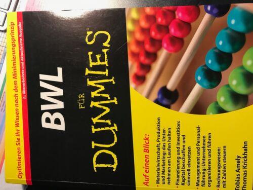 1 von 1 - BWL für Dummies von Thomas Krickhahn und Tobias Amely 2.überarbeitete Ausgabe